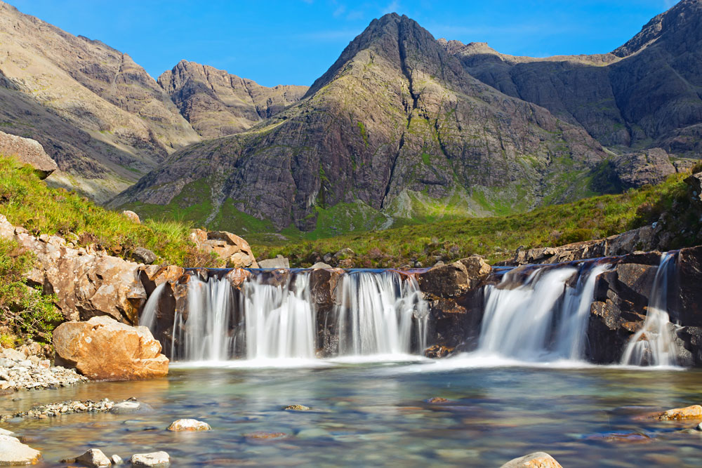 fairy pools na ostrove skye