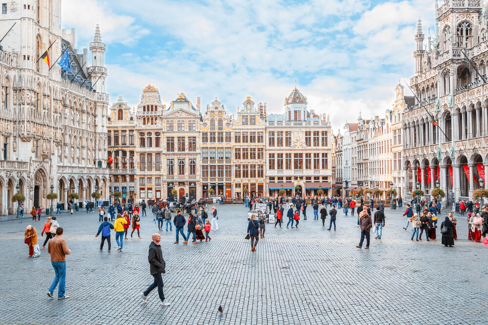 namestie Grand Place v Bruseli